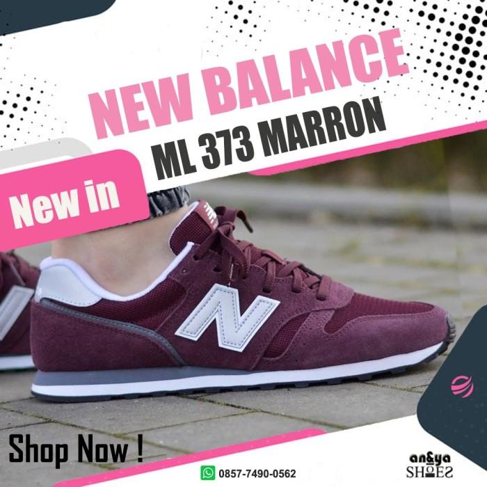 Sepatu New Balance Ml 373 Maroonsilver Original Made Indonesia