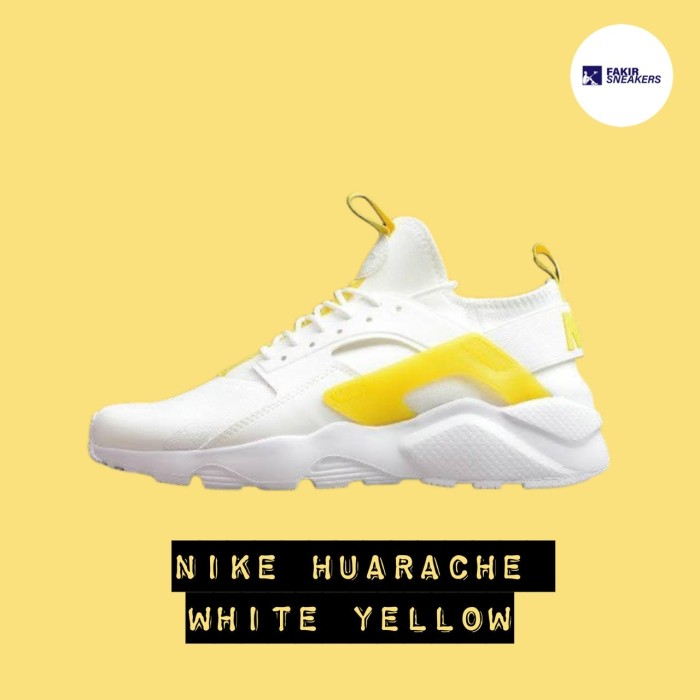 Nike Huarache White Yellow