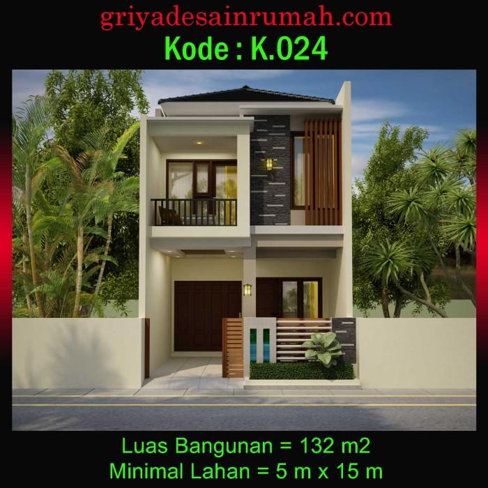 desain rumah 5x15 3 kamar tidur
