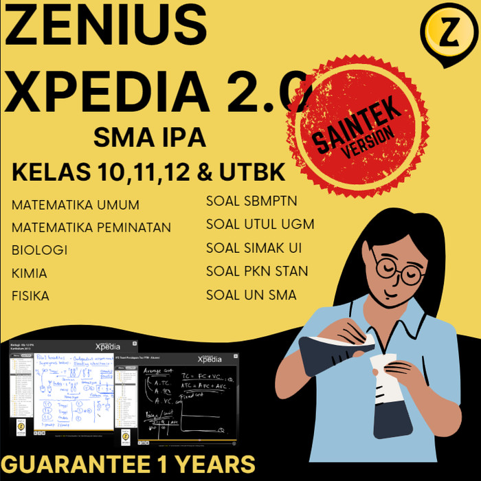 Jual Sbmptn 2021 Saintek Zenius Xpedia Link Kab Majalengka Wall Official Store Tokopedia