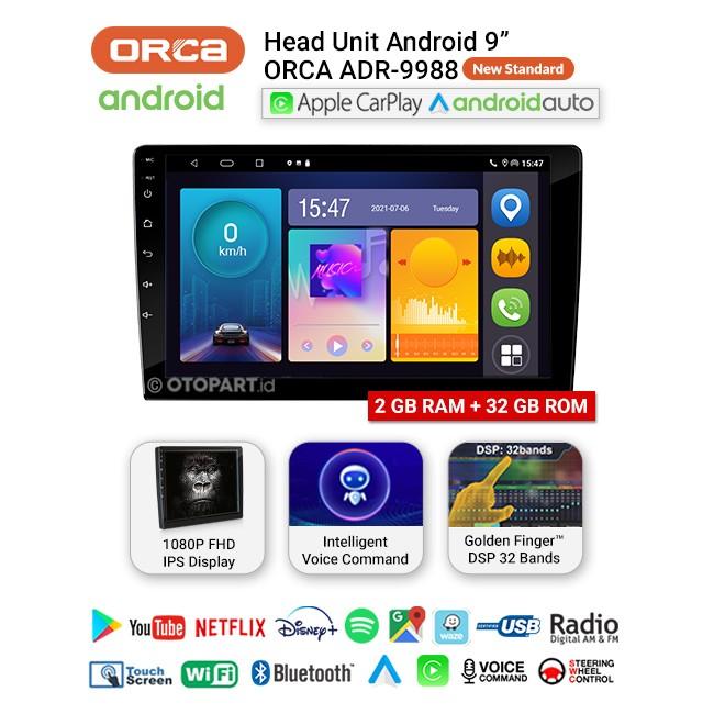 Head unit Android Auto Apple Carplay Orca ADR-9988 New Standard Series