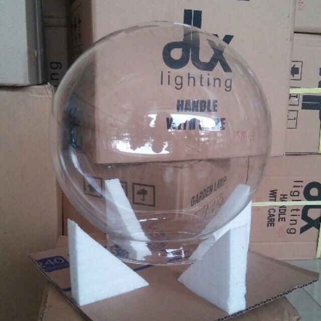 Jual Hanya Kaca Lampu Taman Bulat Bening Diameter 22 5 Cm Jakarta Timur Anekalampu Dlx Lighting Tokopedia
