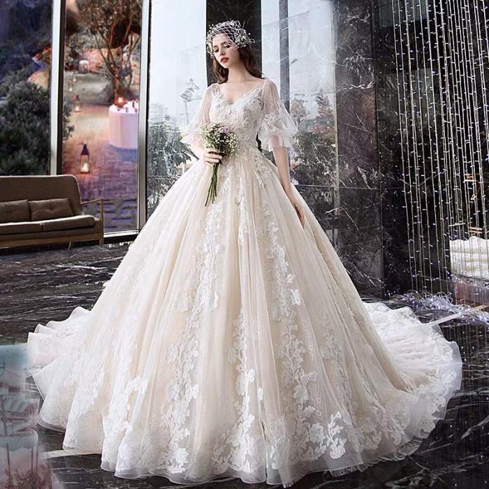 Jual Wedding Dress Korean Style Kota Medan De Room Tokopedia