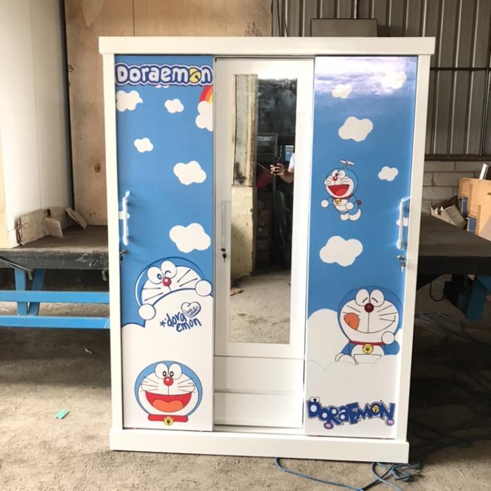 Jual Lemari Pakaian Lemari Baju 3 Pintu Sliding Karakter Doraemon Kota Tangerang Selatan Funiture Tangerang Tokopedia