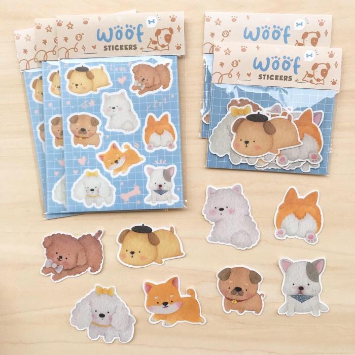 Jual Sticker Diecut Sticker Planner Gambar Anjing Lucu By Mentol Art Kab Malang Mentol Art Tokopedia