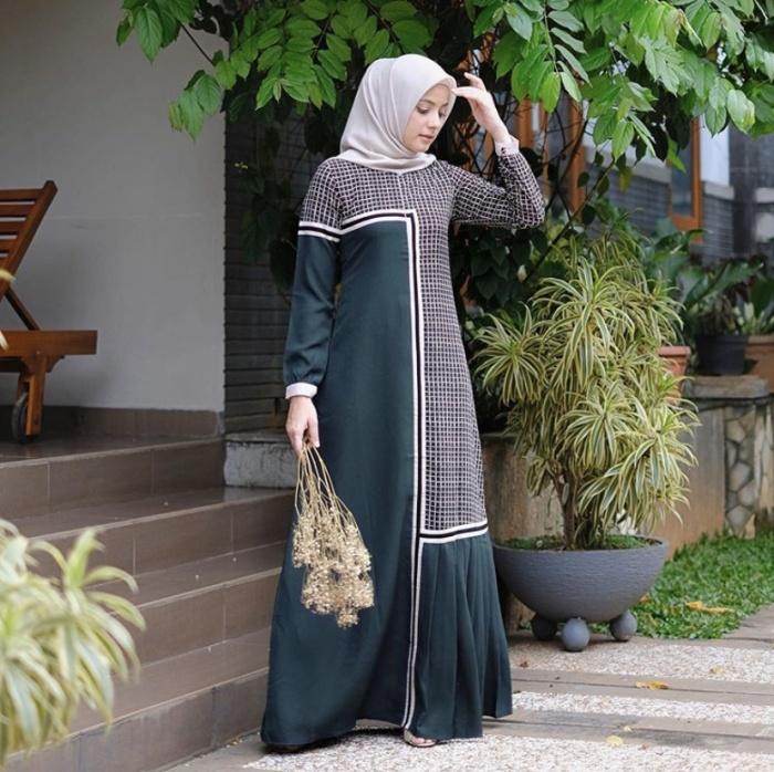 Jual Alifaa Dress Green By Javina Official Kota Medan Midori F Tokopedia