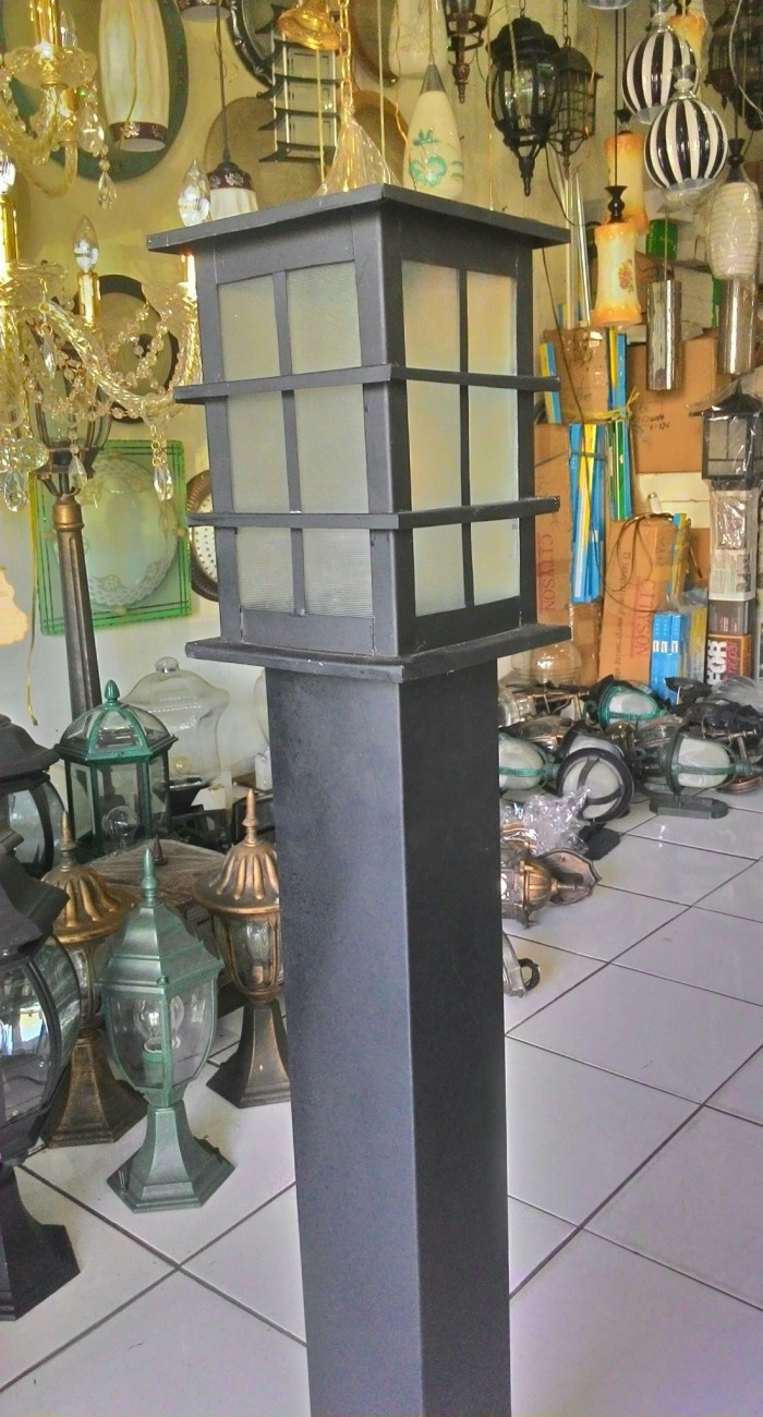 Jual Lampu Taman Minimalis Hitam Kotak Jakarta Timur Pandawa Lighting Tokopedia