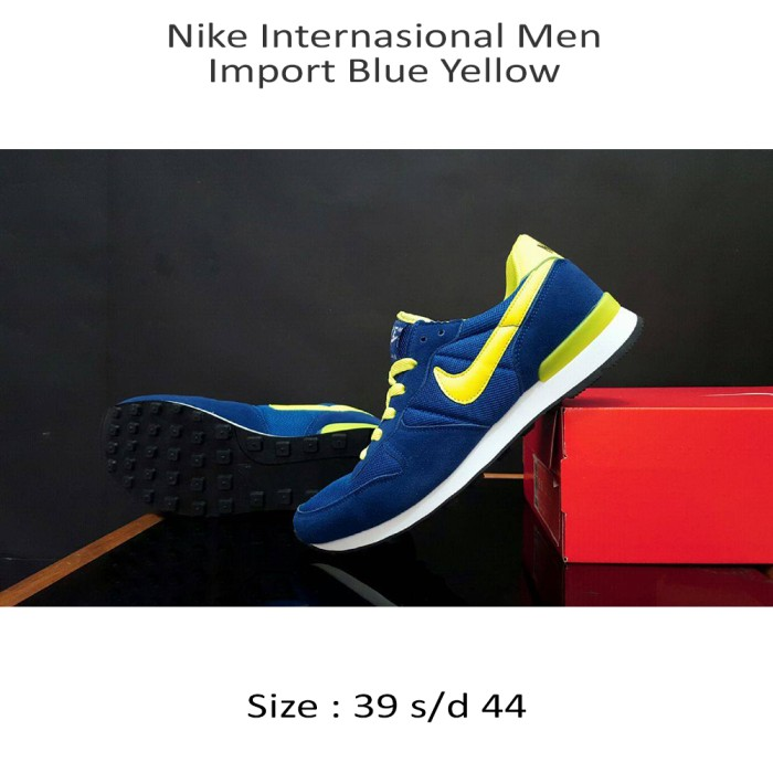 Nike Internationalist Men Import Blue Yellow