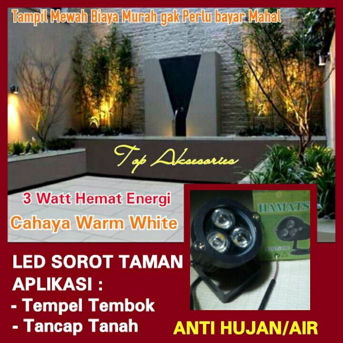 Jual Lampu Sorot Taman 3 Watt Anti Air Kota Bandung Topaksesories Tokopedia