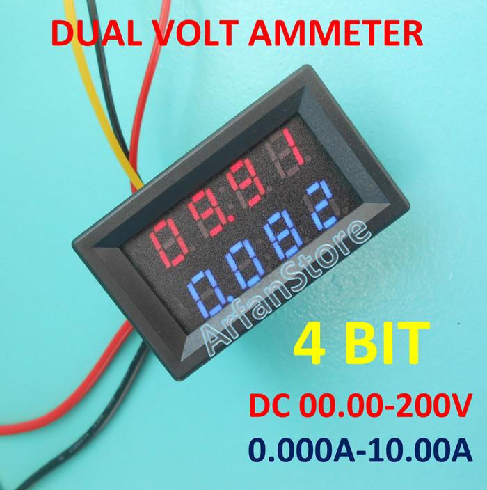 Jual 4 Bit Dual Voltmeter Ammeter 200v Digital Volt Amp Meter 10a 4 Digit Kota Tangerang Arfanstore Tokopedia