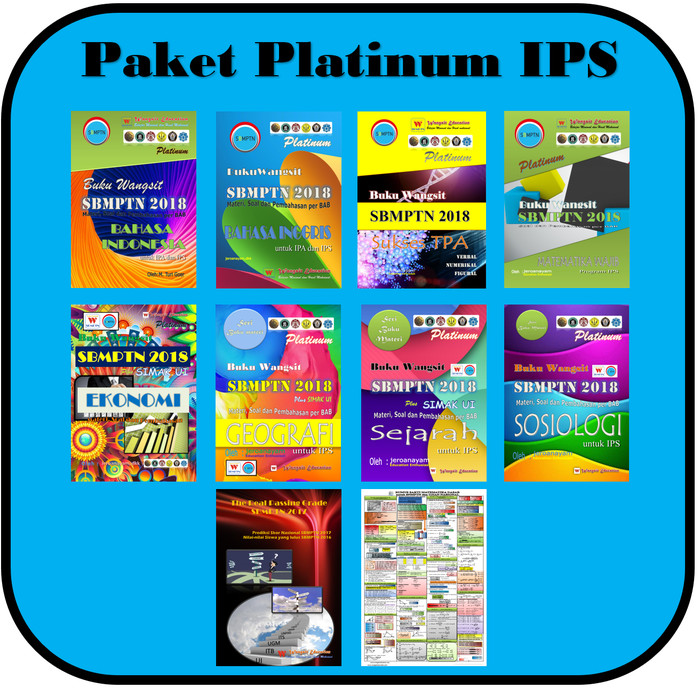 Jual Paket Buku Wangsit Sbmptn 2018 Platinum Ips Termurah Kota Tangerang Makchuss Tokopedia