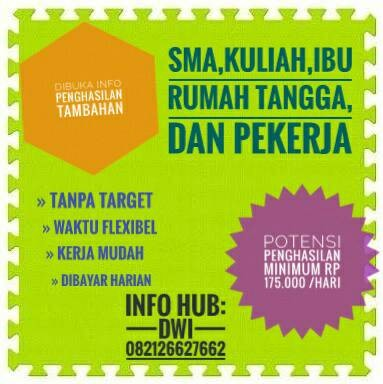 Jual Lowongan Freelance Part Time Kota Cimahi Dwinar Shop Tokopedia