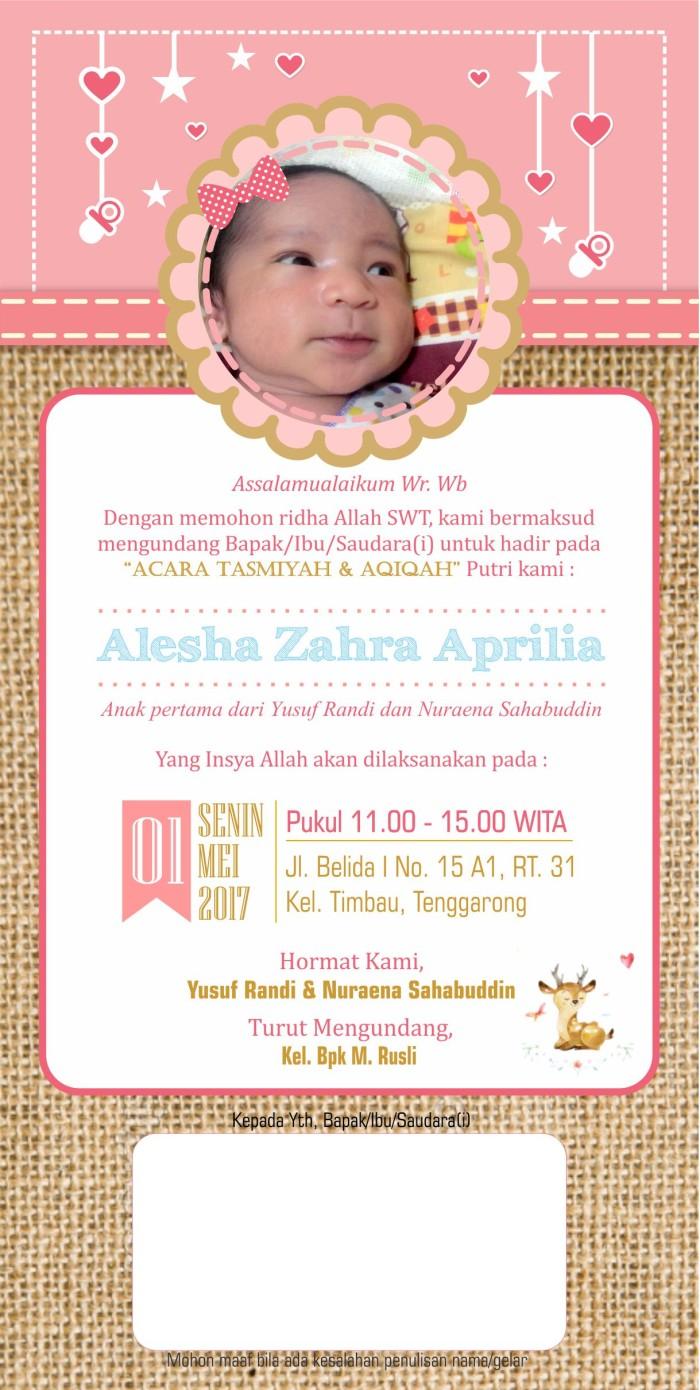 Undangan Custom Aqiqah Tasmiyah