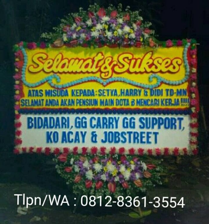 Jual Bunga Ucapan Jakarta Bunga Ucapan Selamat Dan Sukses Jakarta Selatan Bani Florist Tokopedia