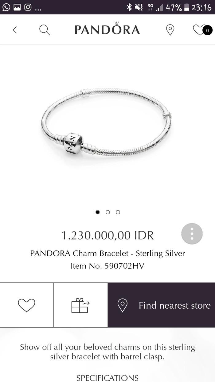 Jual Pandora Bracelet 19 Cm Kota Bandung Zae Home Tokopedia