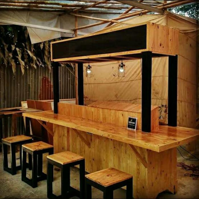 Jual Promo Set Meja Mini Bar Booth Cafe Resepsionis Minimalis Kayu Murah Kab Jepara Solid Wood Tokopedia