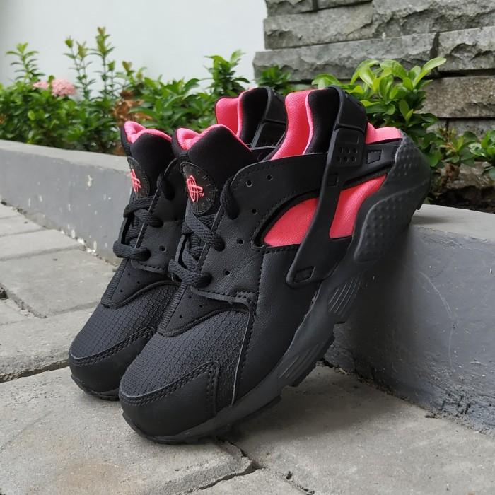Sepatu Anak Nike Kids Huarache Run Black Pink Original