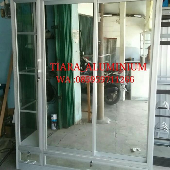 Jual Lemari Pakaian Aluminium 3 Pintu Full Kaca Sleading Kota Tangerang Tiaraalmunium Tokopedia