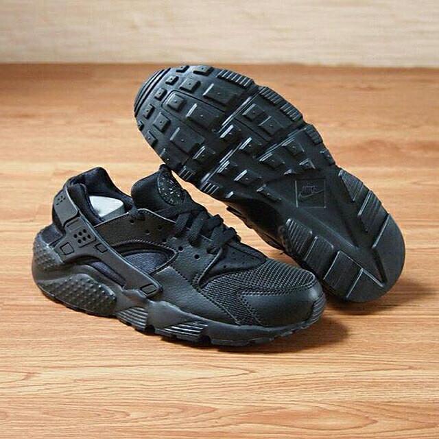 Sepatu Nike Huarache Kids Anak Original Triple Black