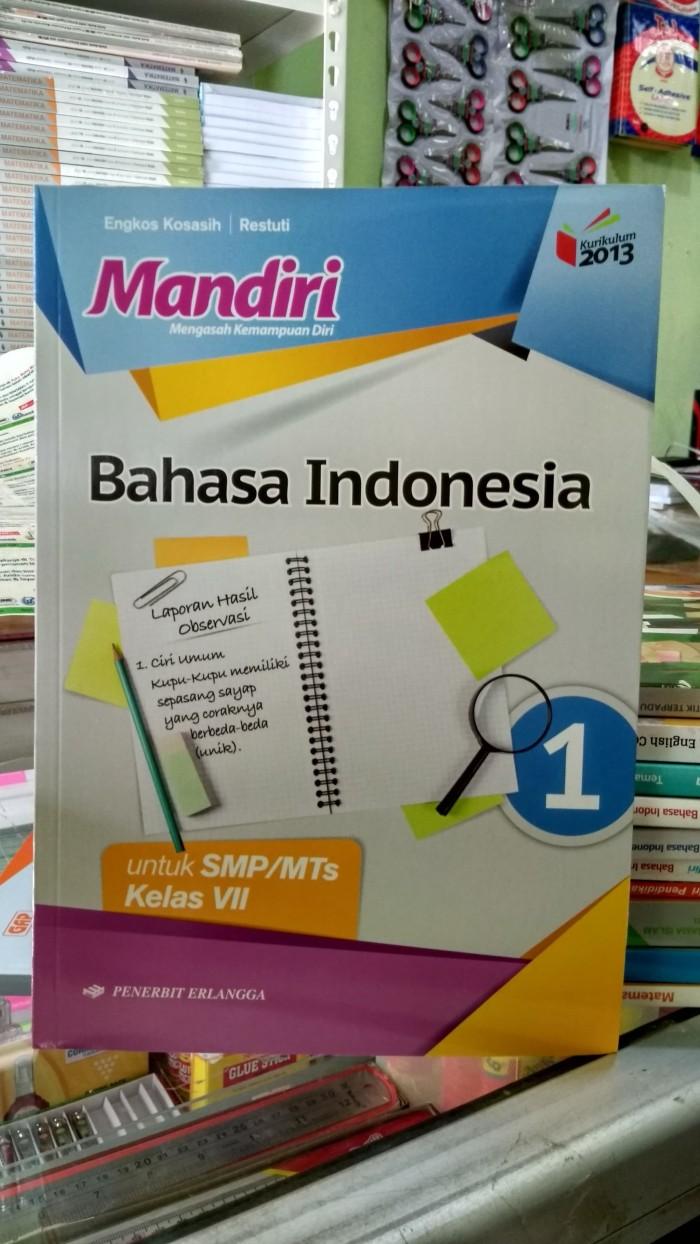 Jual Mandiri Bahasa Indonesia 1 Untuk Smp Mts Kelas Vii K13n Erlangga Jakarta Pusat Toko Buku Mata Air Tokopedia