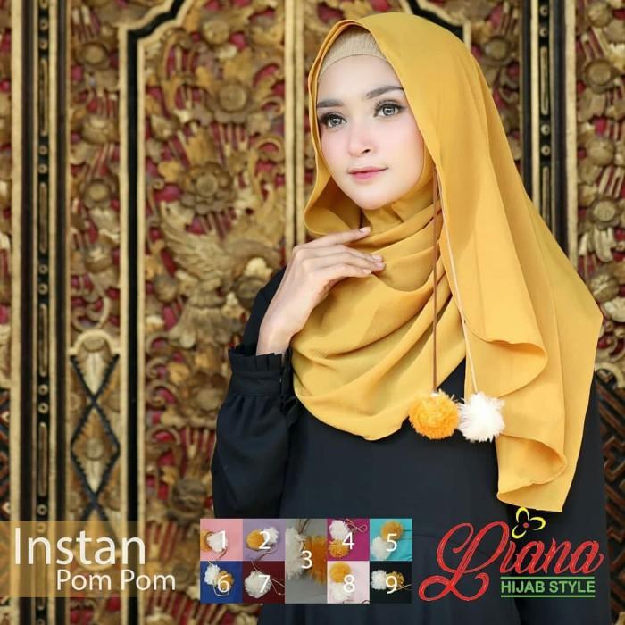 Jual Pashmina Instan Pompom Liana Cantik Style Kerudung Ootd Tutorial Kota Bandung Ataliahijabstore Tokopedia