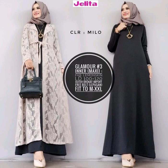 Jual Dress Terbaru Terbaru Setelan Gamis Brukat Inner Lemonskin Outer Long Jakarta Pusat Tuliph Fashion Tokopedia