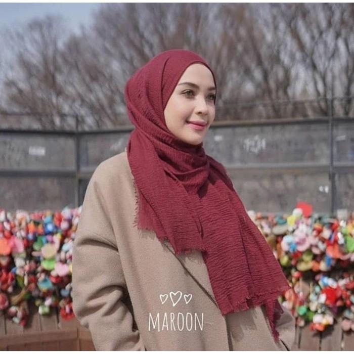 Jual Kerudung Jilbab Pashmina Crinkle Shawl Hijab Rawis Cotton Premium Coksu Kab Gresik Storemuslimah Tokopedia