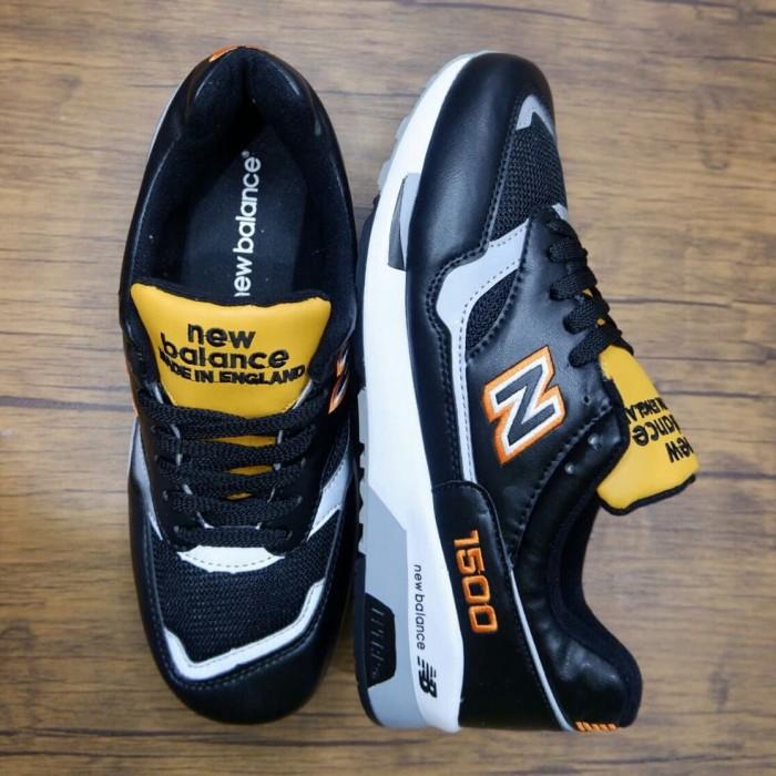 Sepatu Nw Balance 1500 London Cab Leather Black Sneakers Premium