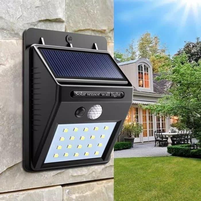 Jual Lampu Taman Tenaga Surya System Sensor Dinding Solar Cell Panel 20led Kab Sidoarjo Yunda Olshop Tokopedia