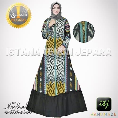 Jual Gamis Wanita Muslimah Bahan Kain Tenun Blanket Troso Kombinasi Kab Jepara Istana Tenun Jepara Tokopedia