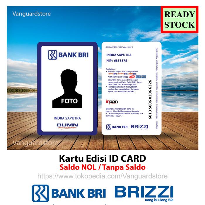 Jual Kartu Bri Brizzi Id Card Bank Bri Nametag Emoney Etoll Murah 2 Sisi Jakarta Barat Vanguardstore Tokopedia