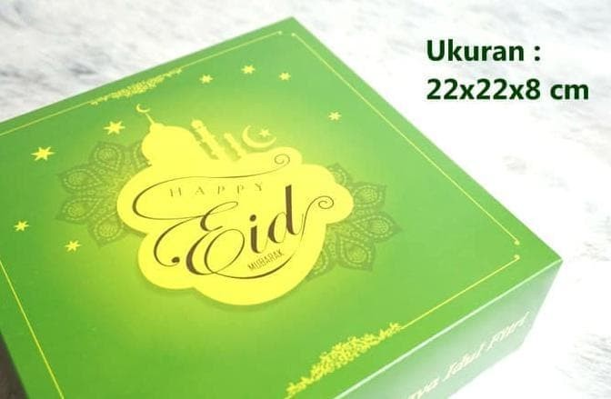 Jual Box Dus Kardus Kotak Kue Cake Lebaran Idul Fitri Eid Mubarak 22x22 Jakarta Pusat Retno Wahyu Shop Tokopedia