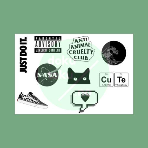 Jual Sticker Tumblr Aesthetic Hitam Black Lucu Murah Kota Tangerang Dokutoku No Tokopedia