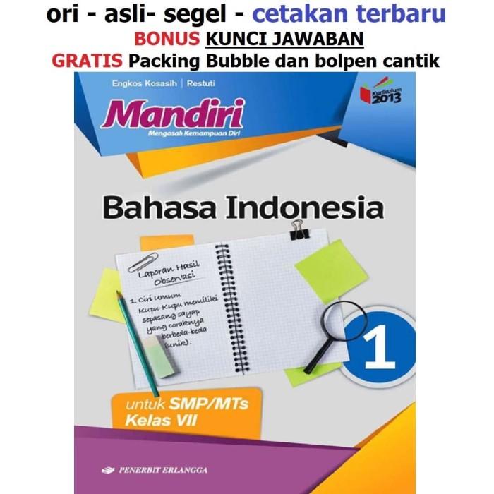 Jual Buku Mandiri Erlangga Bahasa Indonesia Kelas 7 Smp Kunci Jawaban Kab Tangerang Sahabat Buku Anak Tokopedia