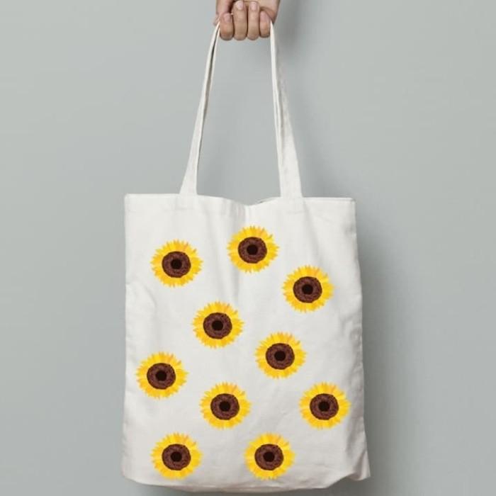 Jual Tote Bag Motif Bunga Matahari Kota Cimahi Dacia Tokopedia