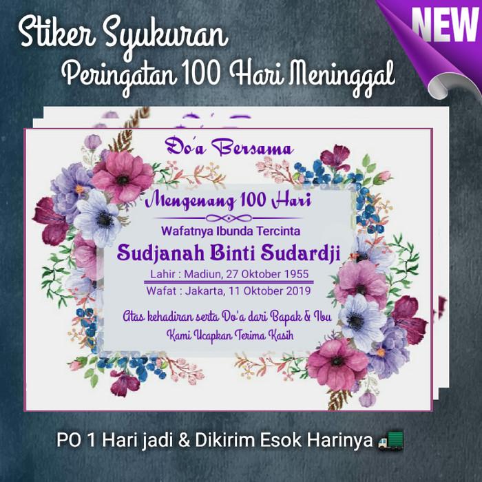 Jual Stiker Label Acara 7 40 100 Hari Wafat Almarhum Kab Bekasi Da I Onlineshop Tokopedia