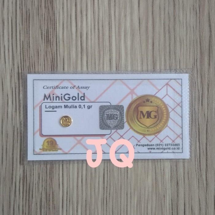 Jual Minigold Koin Emas Mini 24 Karat Logam Mulia 0 1gram Kota Depok Jqparfume Tokopedia