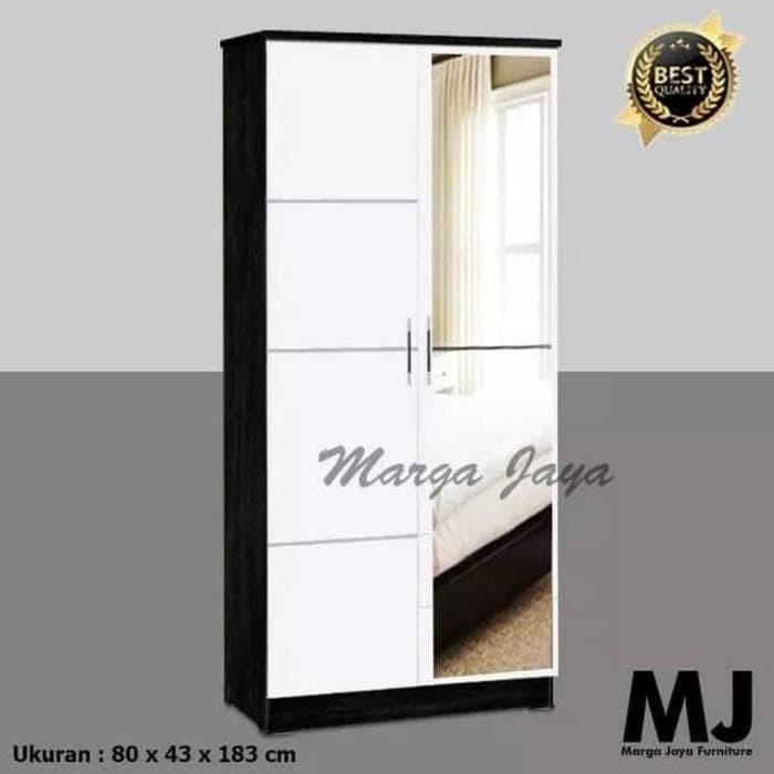 Jual Lemari Pakaian 2 Pintu Kaca Full Minimalis Modern Putih Original Jakarta Timur Phonixshop Tokopedia