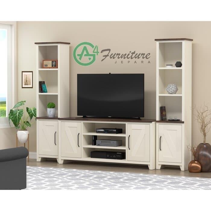 Jual Bufet Tv Minimalis Terbaru Liesel Meja Tv Kayu Jati Kab Jepara Ag4 Furniture Tokopedia