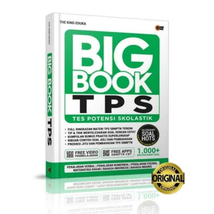 Jual Smart Book Tps Utbk Sbmptn 2020 The King Eduka 100 Original Jakarta Selatan Amany Book Store Tokopedia