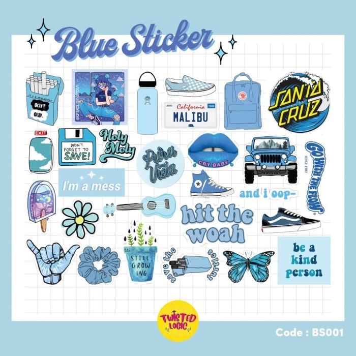 Jual Aesthetic Sticker Tumblr Blue Sticker Kota Tangerang Selatan Twisted Logic Id Tokopedia