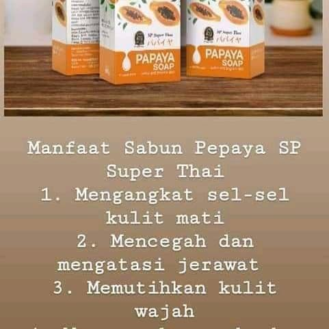 Jual Sabun Super Thai Papaya Soap Kota Makassar Murniafifashopp Tokopedia