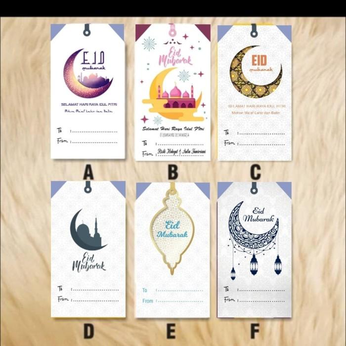 Jual Kartu Ucapan Parcel Hari Raya Hang Tage Versi Eid Mubarak Jakarta Barat Go Design Tokopedia