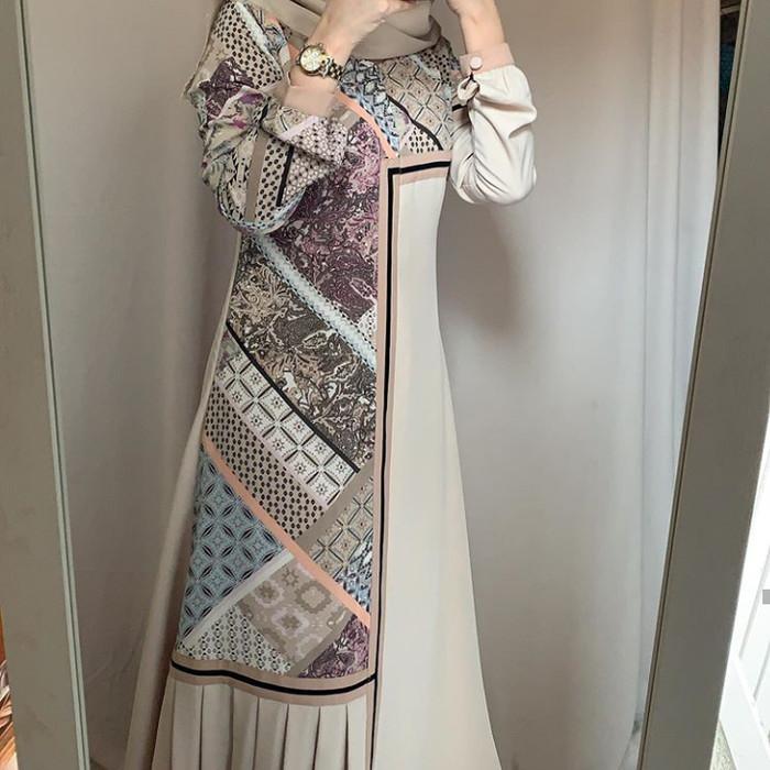 Jual Alifa Dress By Javina Official Cokelat M Kab Cirebon Tsabit Id Tokopedia