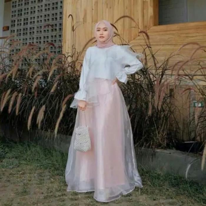 Jual Medirha Dress Organza Mix Moscrepe Baju Model Terbaru Baju Lebaran - Jakarta Utara - Ayu Jeans | Tokopedia