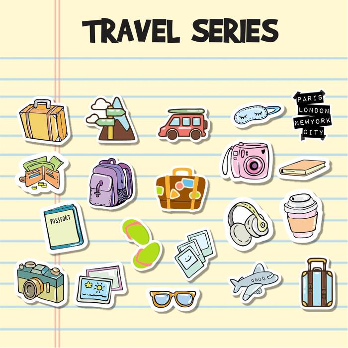 Jual Sticker Aesthetic Travel 20 S Stiker Case Handphone Laptop Tumblr S Kota Cimahi Ohza Project Tokopedia