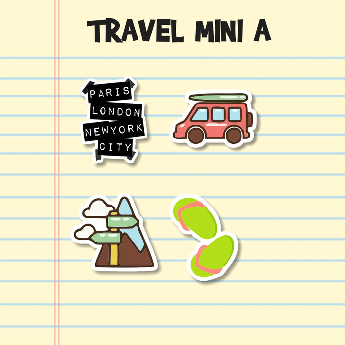 Jual Sticker Aesthetic Travel 4 S A Stiker Case Handphone Laptop Tumblr S Kota Cimahi Ohza Project Tokopedia