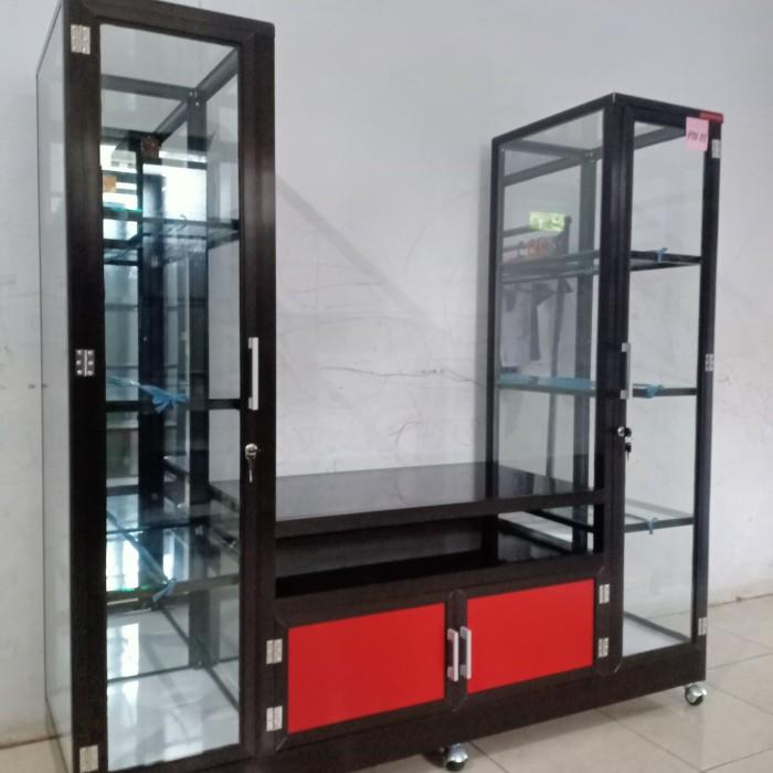 Jual Rak Tv Aluminium Pintu Acp Rtv01 Cokelat Kab Pangandaran Nusa Aluminium Tokopedia