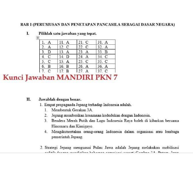 Jual Buku Mandiri Erlangga Pkn Pendidikan Kewarganegaraan Kelas 7 Smp Jakarta Barat Febriahermashop01 Tokopedia