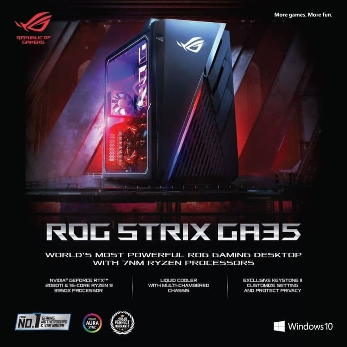 Jual ASUS ROG STRIX GA35 G35DX-R77S7T - GAMING PC DESKTOP - Jakarta Utara - Lezz Computech | Tokopedia